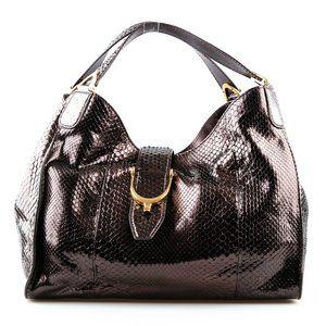Gucci Stirrup Python Shoulder Bag